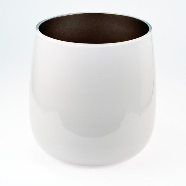 MEL Vase Happy Spring groß 20,5cm mocca