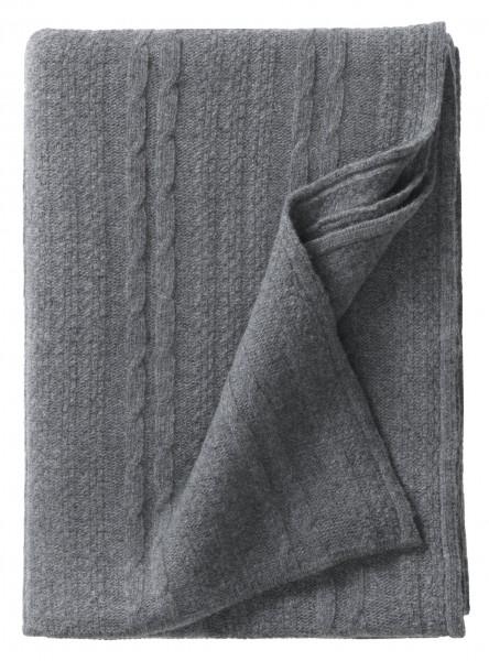 BERGEN Plaid dunkel grau 130x190cm