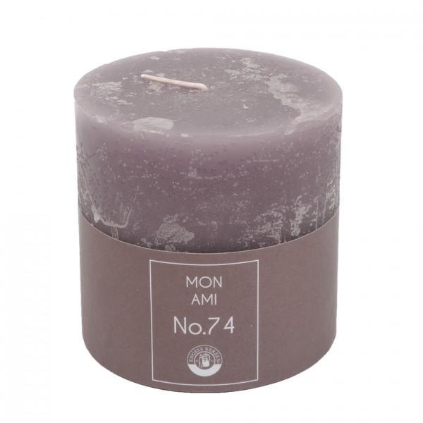 Mon Ami Rustique Kerze violett Nr.074 Ø10cm H10cm