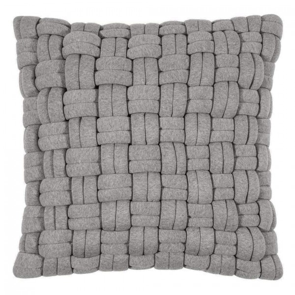 Lokken Kissenhülle 45x45, grey, mit Füllung SALE