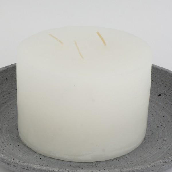 Mon Ami Mehrdocht Kerze, Weiss Nr 017, Ø15cm H10cm
