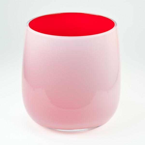 MEL Vase Happy Spring groß 20,5cm rot