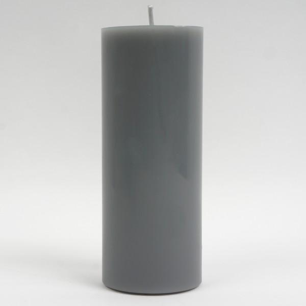 Stumpenkerze Schiefer 20x8cm