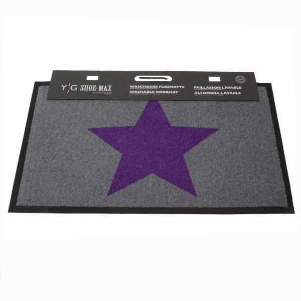 Shoe-Max Fussmatte, Big Star Violet 45x75cm