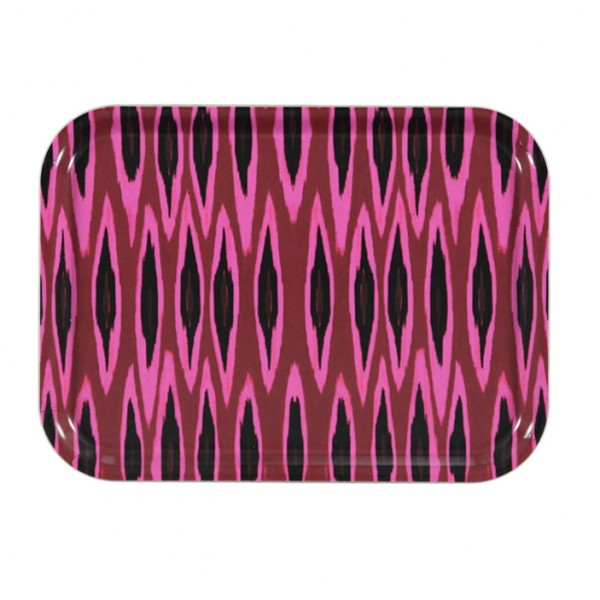 Tablett Tribal Ikat Long Raspberry 27x20cm