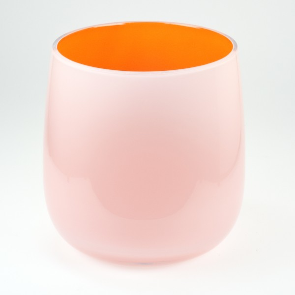 MEL Vase Happy Spring groß 20,5cm orange