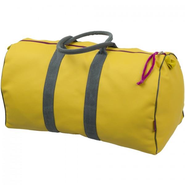 Tasche Travelbag Kunstleder curry