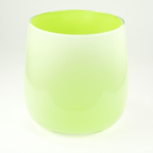 MEL Vase Happy Spring mittel 15cm apfelgrün