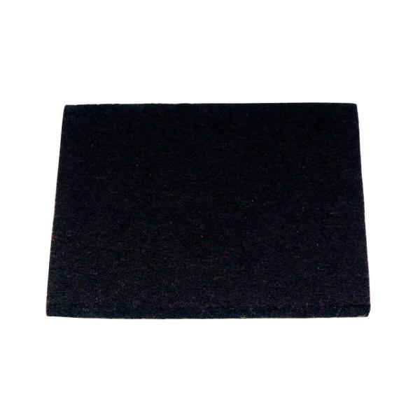 Untersetzer Wollfilz 10x10cm, Schwarz