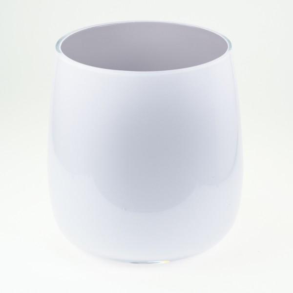MEL Vase Happy Spring mittel 15cm hellgrau