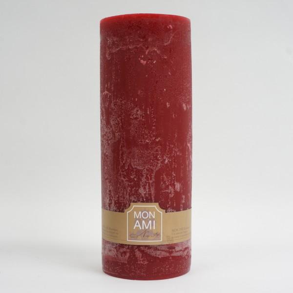 Engels Mon Ami Rustique Kerze bordeaux Ø10cm H20cm