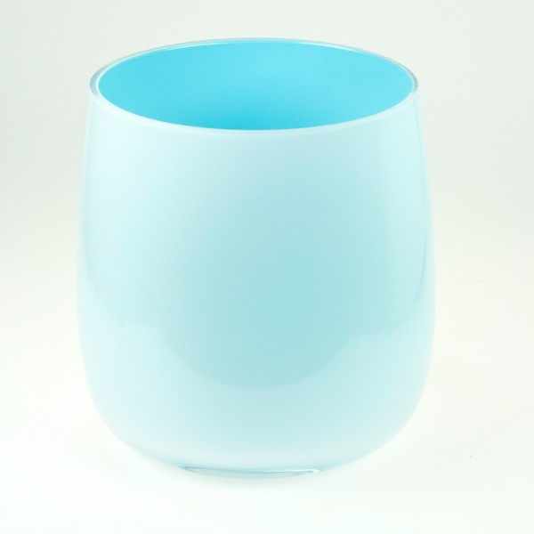MEL Vase Happy Spring klein 10,5cm himmelblau