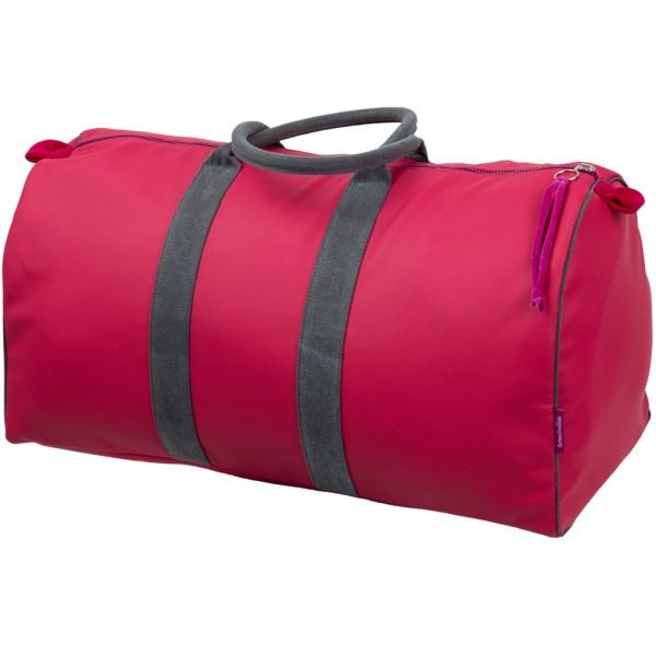 Tasche Travelbag Kunstleder preiselbeer