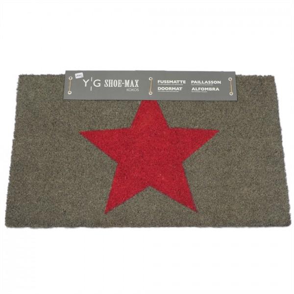 Fussmatte, Kokos, Big star rose 44x74cm