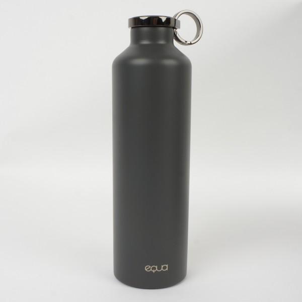 Trinkflasche Edelstahl Basic dark grey