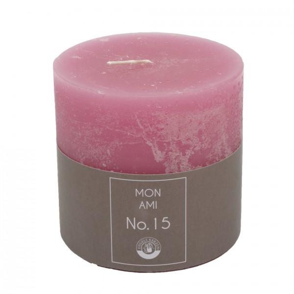Mon Ami Rustique Kerze rosa Nr 015 Ø10cm H10cm