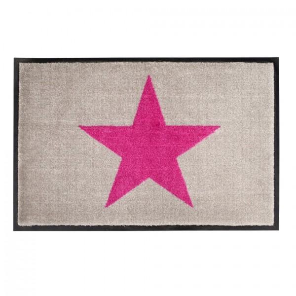 Fußmatte Washables Star beige/pink, 50x75cm