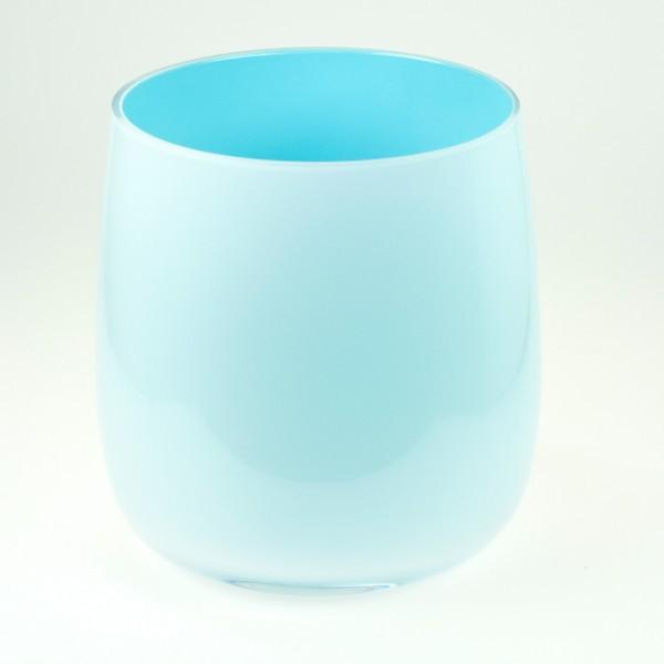 MEL Vase Happy Spring groß 20,5cm himmelblau
