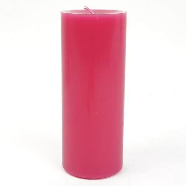 Stumpenkerze Pink Nr 038 20x8cm