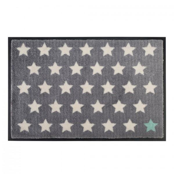 Fußmatte Washables Polka Stars grau, 50x75cm
