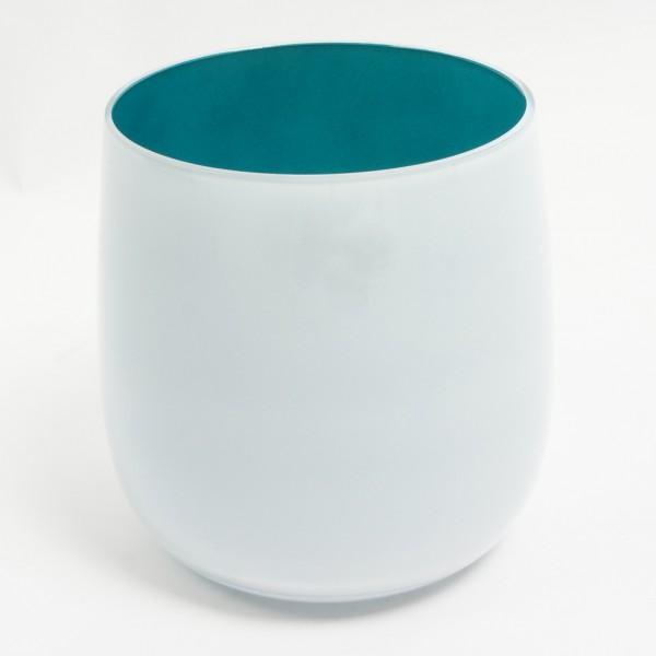 MEL Vase Happy Spring groß 20,5cm petrol
