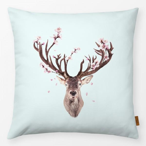 Kissenhülle Cherry Blossom Deer 40x40cm