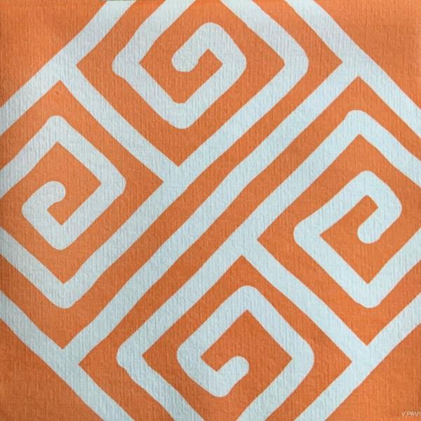 Servietten 40x40cm Milos Orange