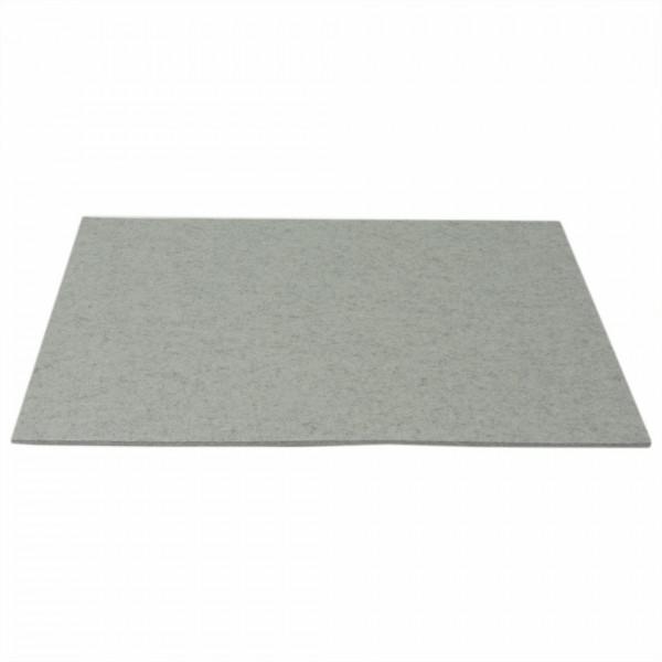 Tischset Wollfilz 45x33cm, Alu meliert