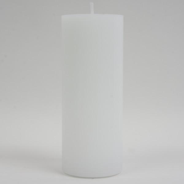 Stumpenkerze Weiss 20x8cm