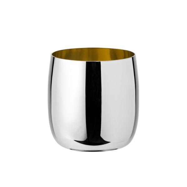 Foster Weinglas 0,2L stahl golden