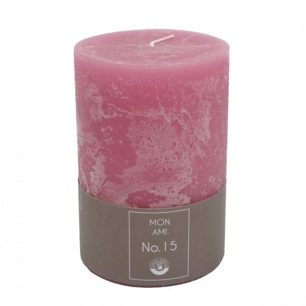 Mon Ami Rustique Kerze rosa Nr.015 Ø10cm H15cm