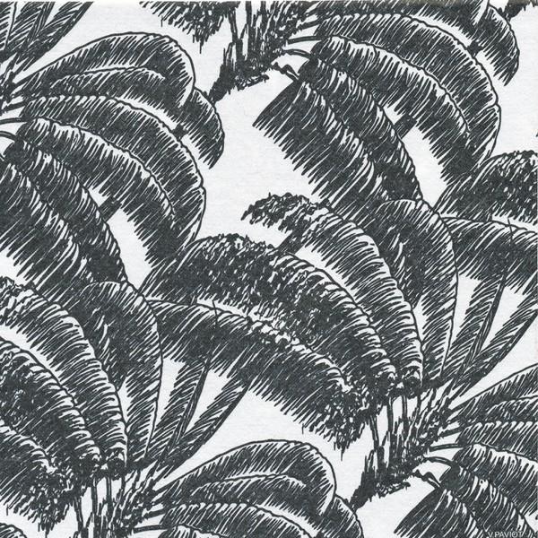 Servietten 40x40cm Black Palm