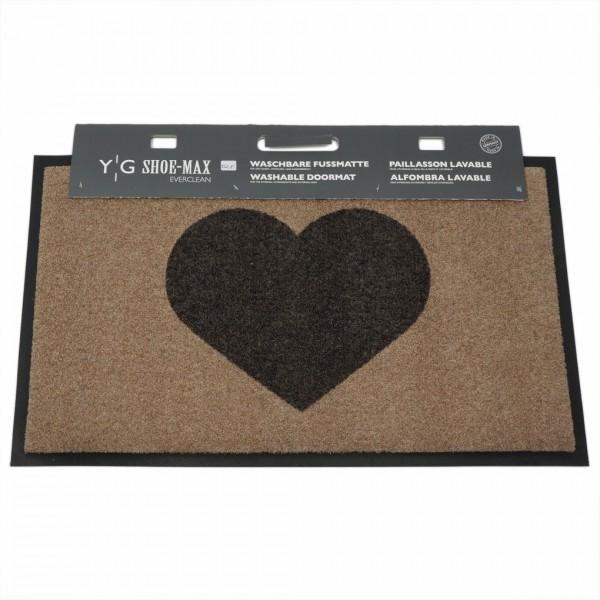 Fussmatte, Heart Taupe 45x75cm