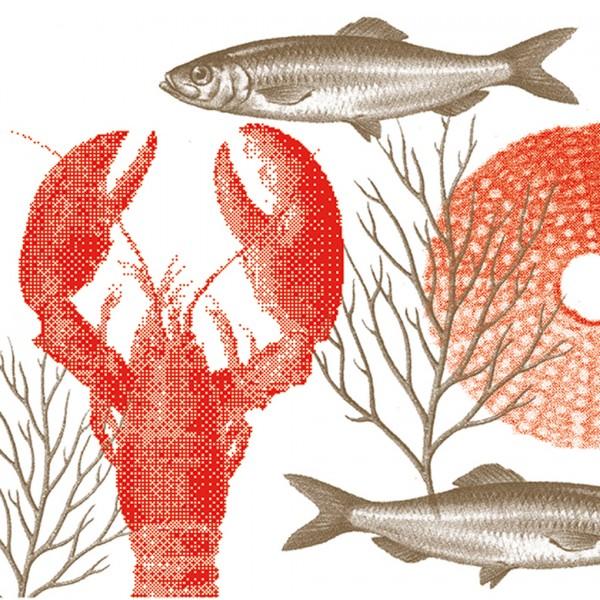 Servietten 40x40cm Lobster Rouge