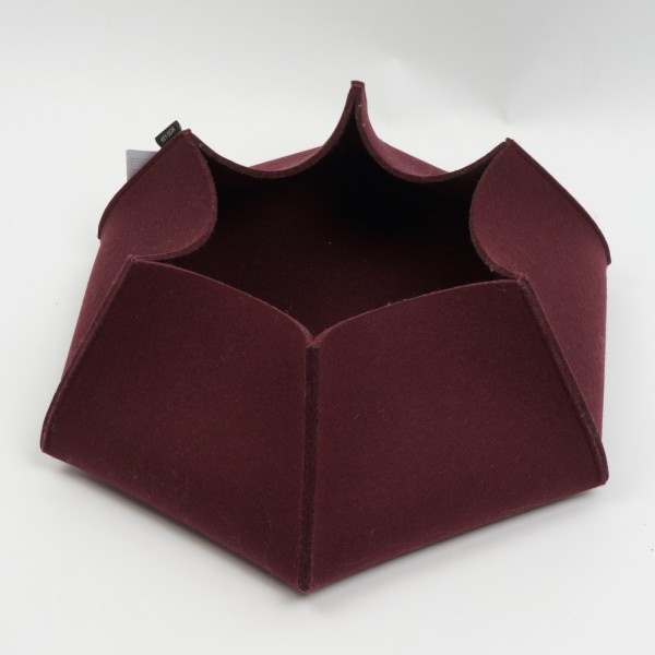 Korb Comba, M, 5mm stark, Aubergine