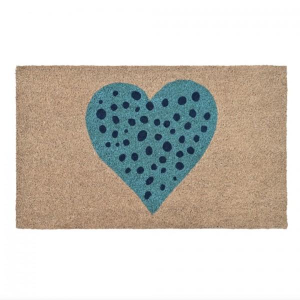 Fußmatte Kokos Herz beige, 45x75cm