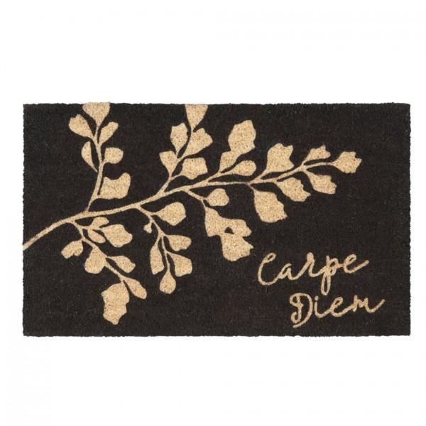 Fußmatte Kokos Carpe Diem schwarz, 45x75cm