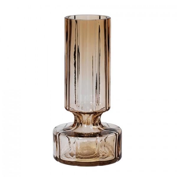 Vase Hyacint; mundgeblasenes Glas, Indian Tan 12x24,9cm