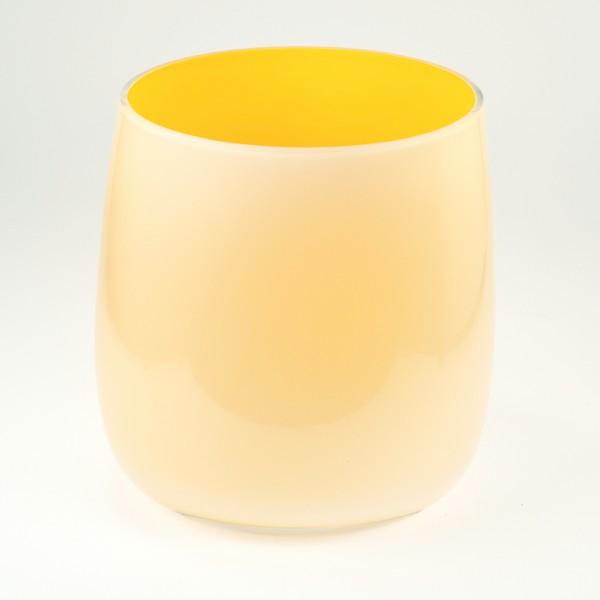 MEL Vase Happy Spring mittel 15cm sonnengelb