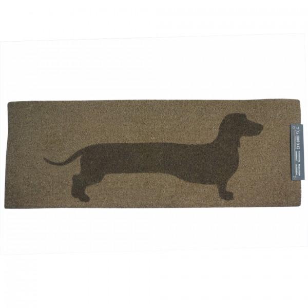 Shoe-Max Kokos-Fussmatte, Hund braun/beige 44x120cm