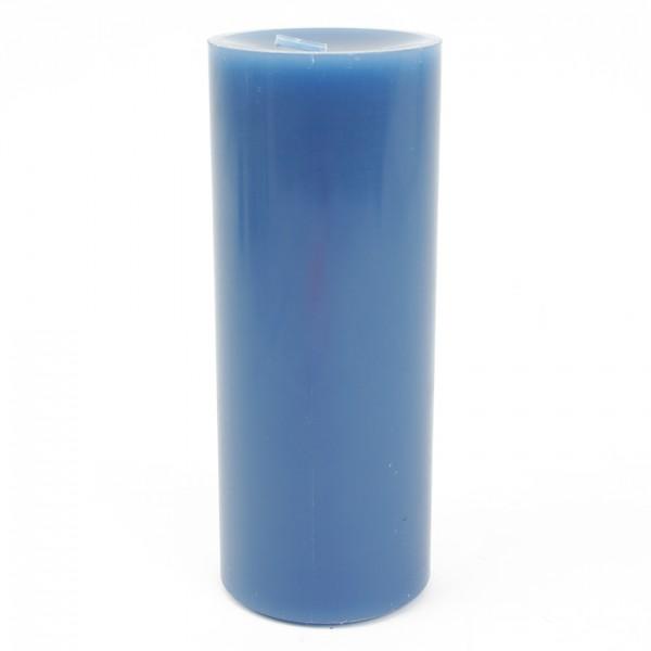 Stumpenkerze Enzian Nr 007 D=8cm H=20cm