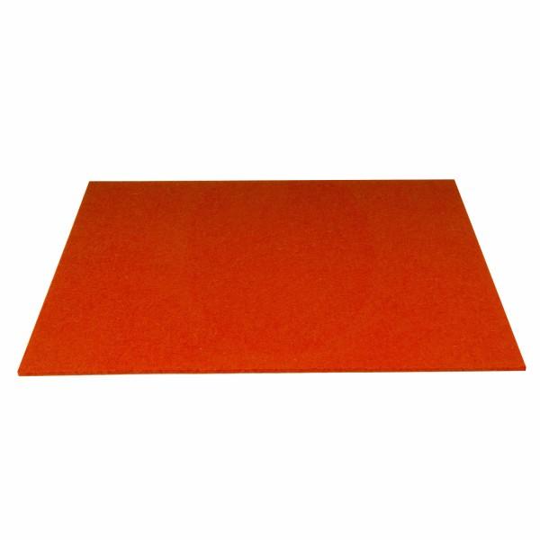 Tischset Wollfilz 45x33cm, Blutorange