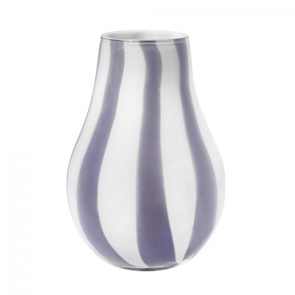 Vase Ada Stripe, mundgeblasen, H22cm D15cm, Orchid / Light Purple