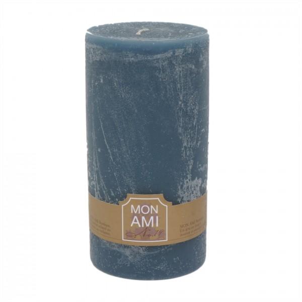 Mon Ami Rustique Kerze granit bleu Nr 019 Ø10cm H20cm