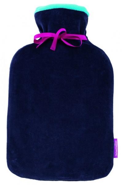 TWINS Wärmflasche 2 l, aubergine-spring crocus