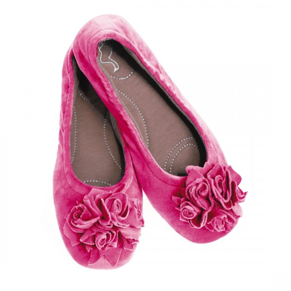 Hausschuh Grace Velvet pink Gr.37