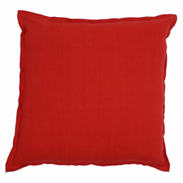 Brera Lino Scarlet Kissen 45x45cm