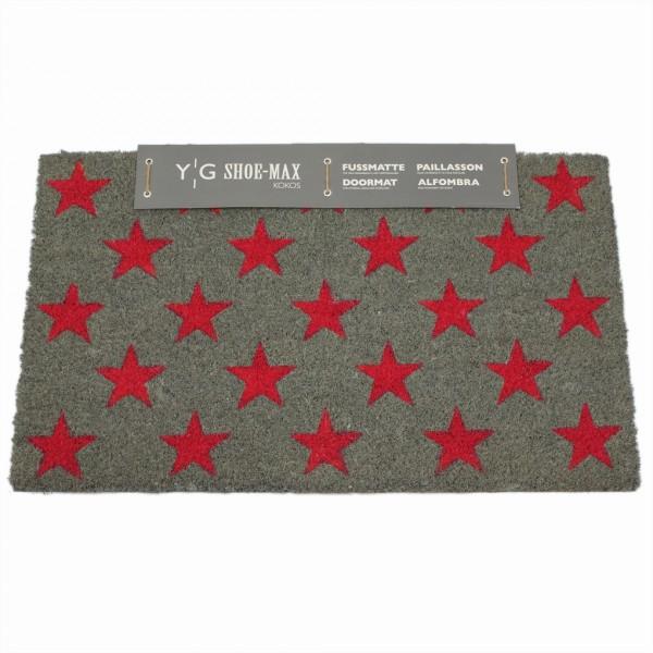 Shoe-Max Kokos-Fussmatte, fresh star pink 44x74cm
