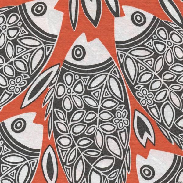 Servietten 40x40cm Poisson orange