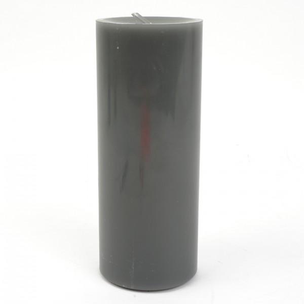 Stumpenkerze Basalt Nr 018 D=8cm H=20cm